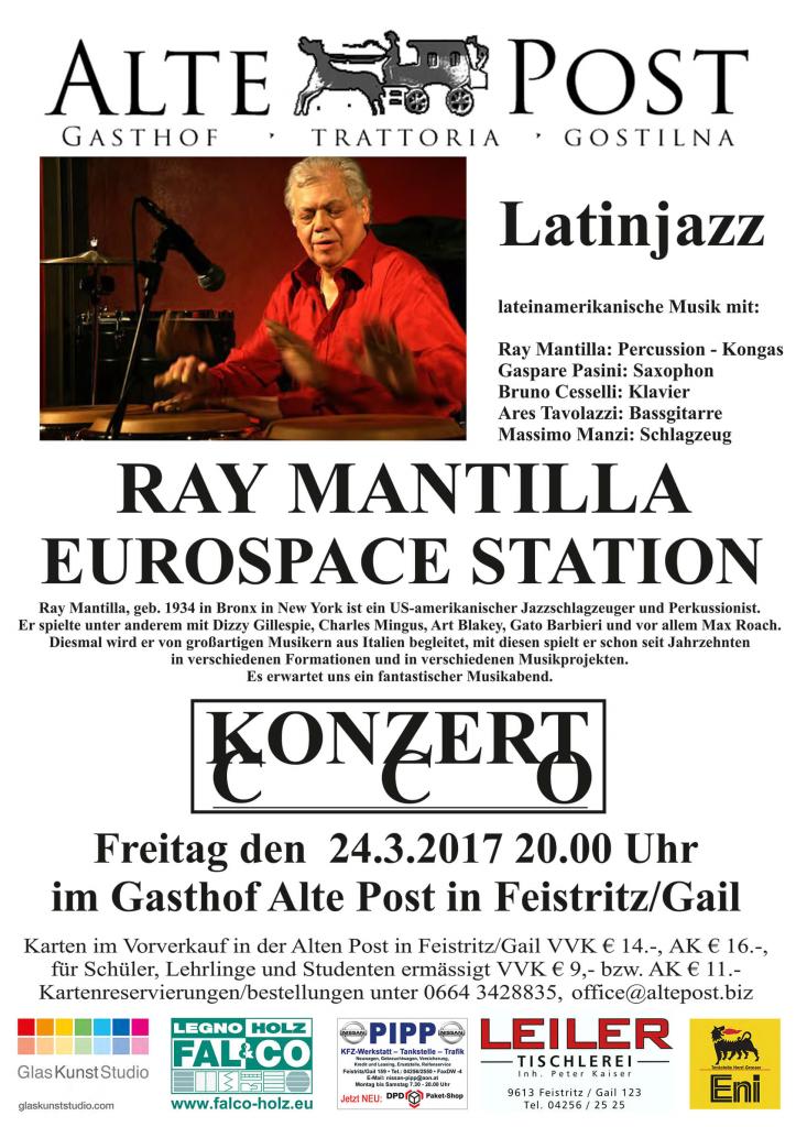 Konzert mit Ray Mantilla am 24.3.2017 GH Alte Post FeistritzGail